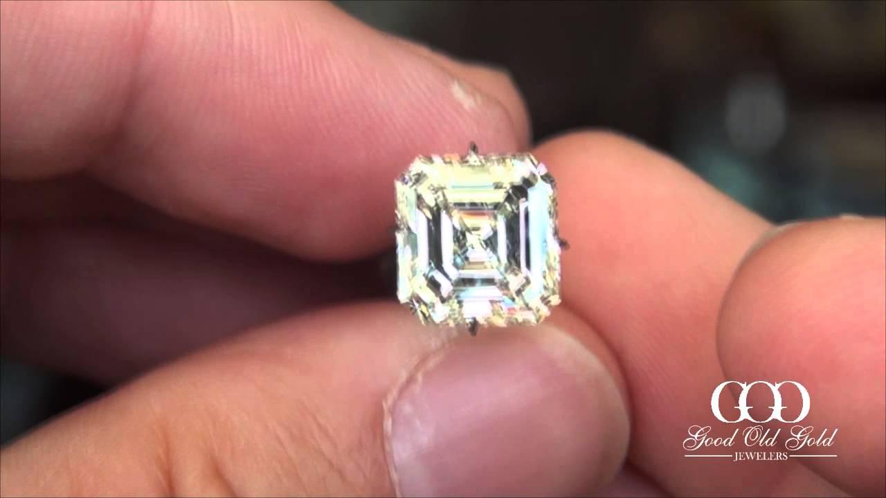 5ct L VS1 Asscher Cut Diamond - YouTube