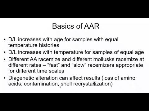 Amino Acid Racemization (AAR) Geochronology Webinar