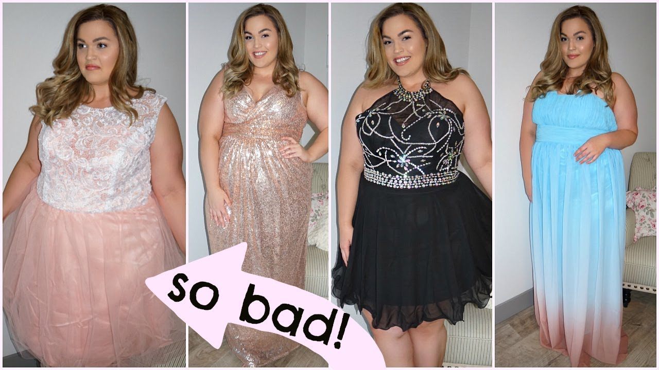 6daa9785179 Trying On Cheap Amazon Prom Dresses ( 19.99 Dress omg) - YouTube