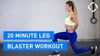 20-Minute Tough Leg & Butt Workout - No Gym, No Equipment