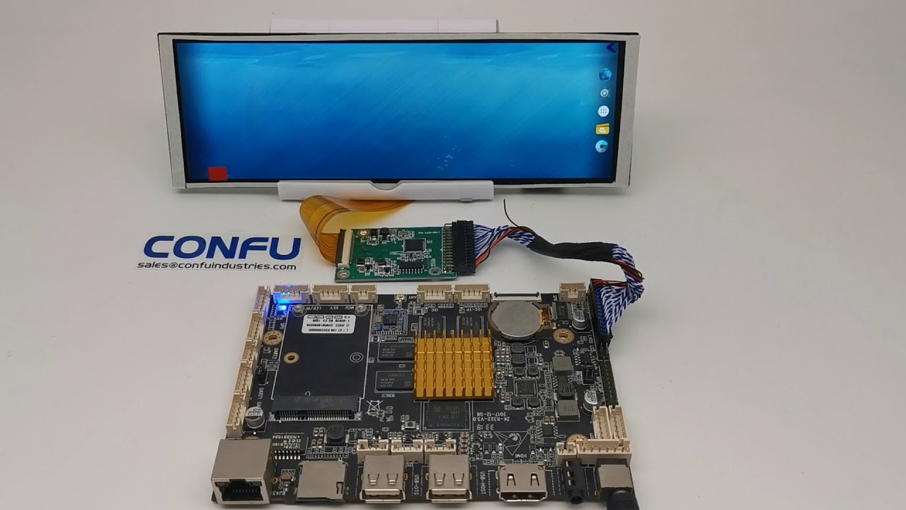 Confu LVDS to MIPI DSI 7 84 inches 1280x400 Stretch LCD 206 18x67 8 x4 6 mm  Android Board China