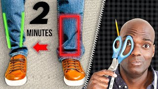 How To EASILY Taṗer Your Jeans   Pro Method In 2 Minutes