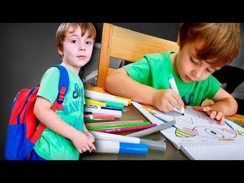 MATERIAL ESCOLAR 2019 E VOLTA AS AULAS!! Escola do Marcos e Livro Infantil