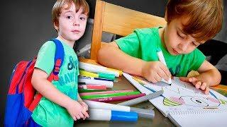 MATERIAL ESCOLAR 2019 E VOLTA AS AULAS!! Escola do Marcos e Livro Infantil thumbnail