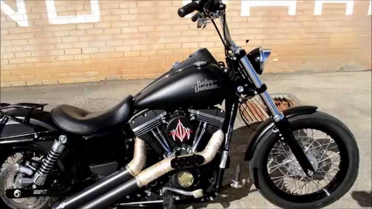 2013 Harley Davidson Dyna Street Bob walk around and start