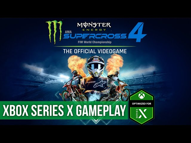 Monster Energy Supercross The Official Videogame 4 - Gameplay (Xbox Series X) HD 60FPS