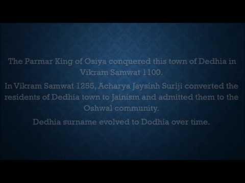 Dedhia / Dodhia Surname Legacy