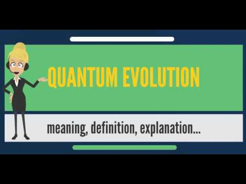 What is QUANTUM EVOLUTION? What does QUANTUM EVOLUTION mean? QUANTUM EVOLUTION meaning