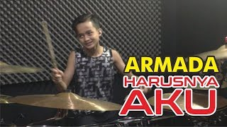 Download lagu Armada - Harusnya Aku || drum cover by Bohemian