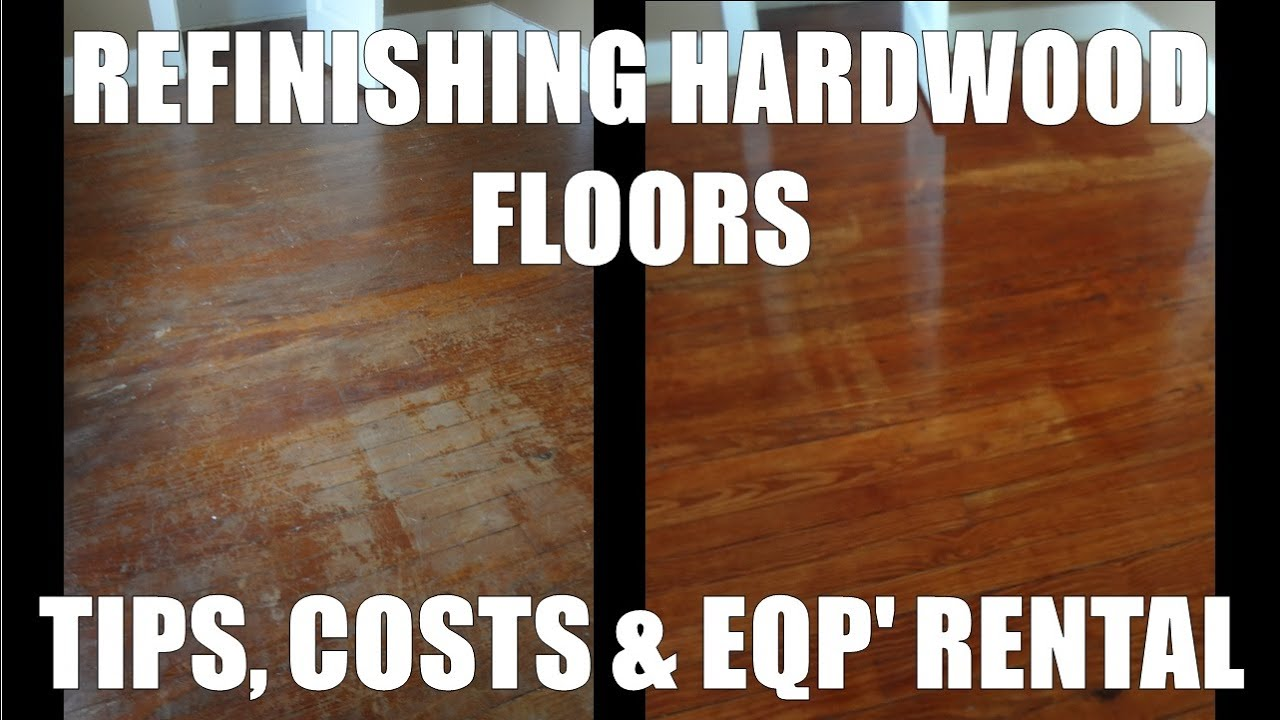 Refinishing hardwood floors costs and home depot rentals youtube solutioingenieria Choice Image
