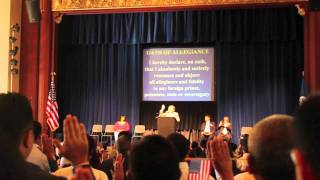 Naturalization Oath Ceromony at Campbell, CA 2011