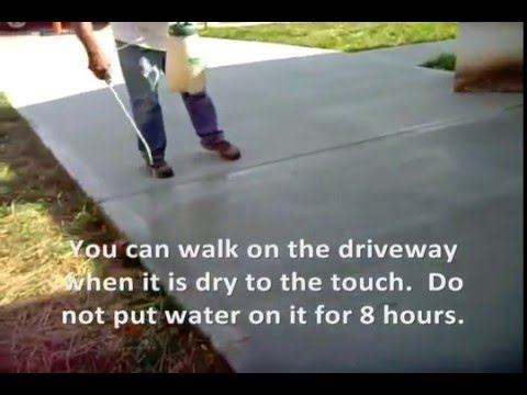 How To Seal A Concrete Driveway Www.SealGreen.com 800-997-3873