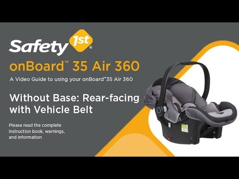 onBoard 35 Air 360 - Without Base: Rear-facing with Vehicle Belt Installation Guide