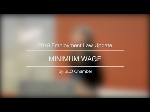 2018 Employment Law Update | Minimum Wage
