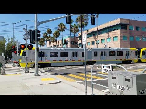 Los Angeles Metro Light Rail, 20th Street Crossing, Santa Monica CA