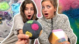 Bath Bomb Challenge! (Ava &amp Addy)