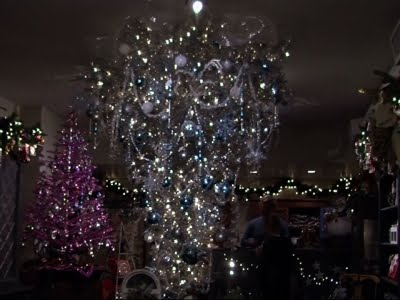 Upside Down Christmas Tree Decorating Ideas.Holiday Decorations Trend Fancy And Upside Down