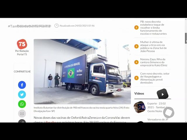 Paraíba deve receber mais de 63 mil vacinas nas próximas horas- Tambaú da Gente Manhã