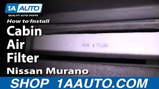 How To Install Replace Cabin Air Filter Nissan Murano 03-07 1aauto.com