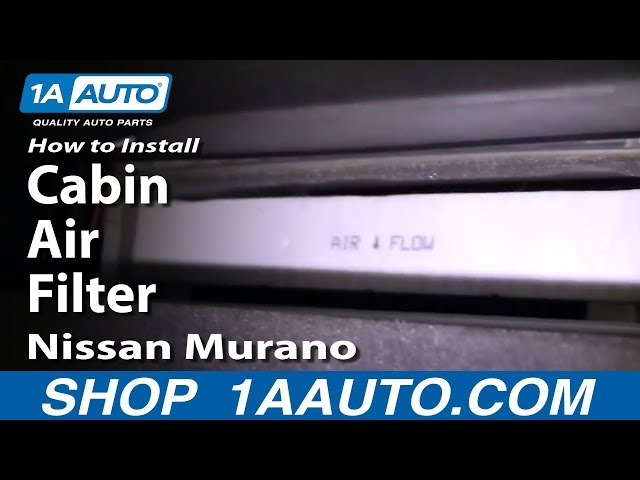 How To Replace Cabin Air Filter Nissan Murano 0307 Youtuberhyoutube: 2005 Nissan Murano Cabin Air Filter Location At Gmaili.net