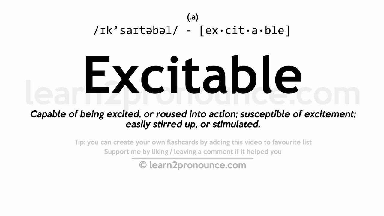 Excitable Pronunciation And Definition