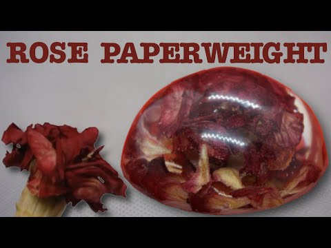 Resin Rose Ornament - DIY - Epoxy Resin Paperweight and How TO Make It.