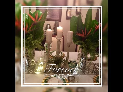Tropical Table Setting/Tablescape Centerpieces Elegance For Less With Faithlyn McKenzie 2018