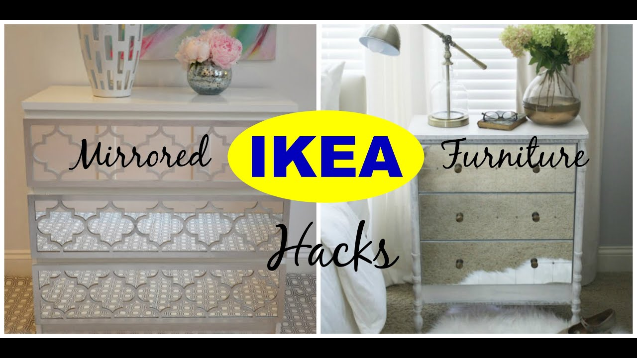 ikea mirrored furniture bedside table diy ikea hacks mirrored furniture ideas inspiration youtube