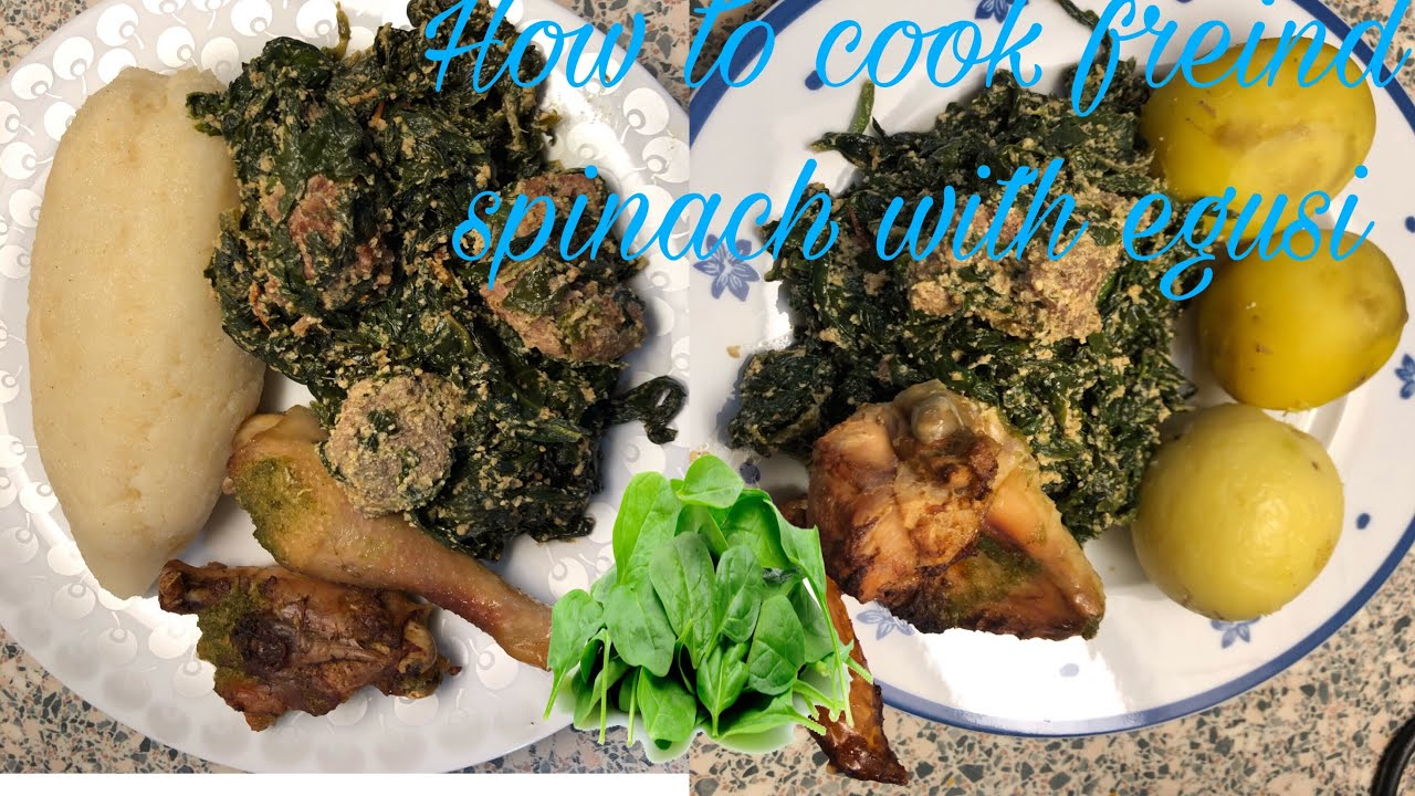 How To Cook Spinach With Egusi #spinach #vegatablesoup ...