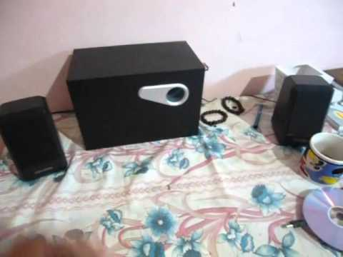 testing of microlab m 280 subwoofer youtube