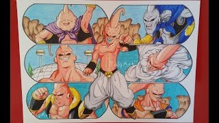 Drawing the Evolution of Majin Buu | Dragonball Z | TolgArt