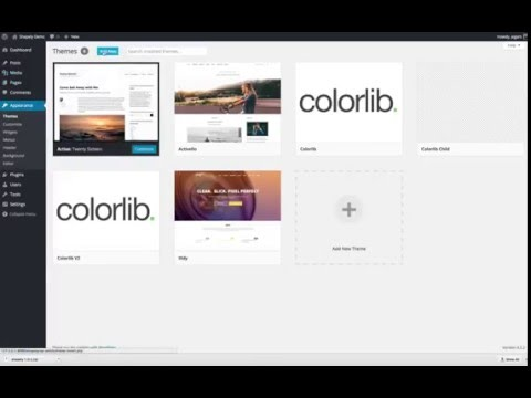 How to install and activate Shapely WordPress theme by Colorlib