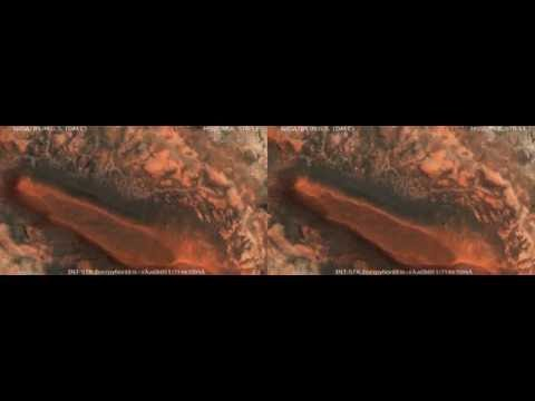 MARS 3D Mysterious Marwth Vallis Region! - Global Elite Colony Site (3D Side by Side)
