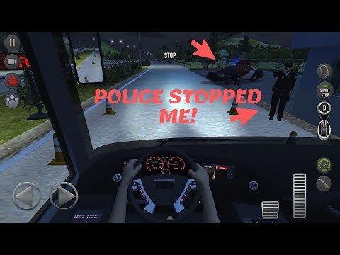 Bus Simulator : Ultimate | Police Stopped Me! | IOS / Android Mobile Gameplay