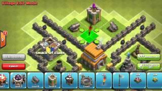 -Clash of clans Th5 troll base!