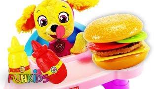 Paw Patrol Baby Skye Eats Happy Meal at McDonalds