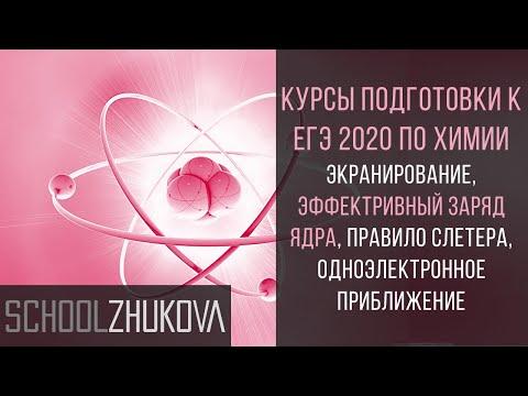 Строение атома. Экранирование. Эффективный заряд ядра. ЕГЭ 2019 Химия