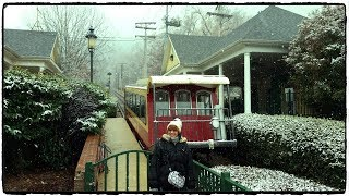 Snowing on the Incline Railway  | Lookout Mountain Tennessee
