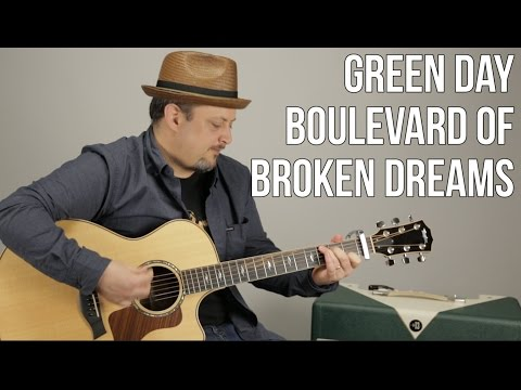Green Day - Boulevard of Broken Dreams - Guitar Lesson- Easy Beginner Acoustic Song