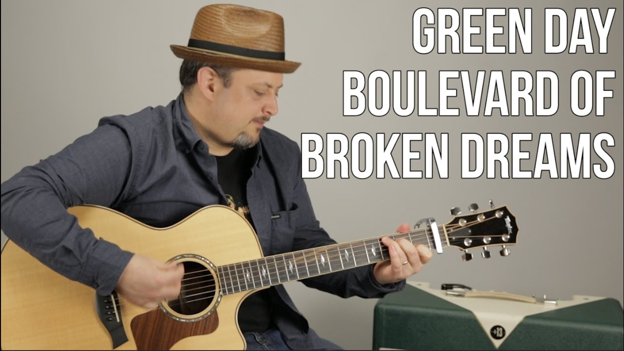 Green Day Boulevard Of Broken Dreams Guitar Lesson Easy