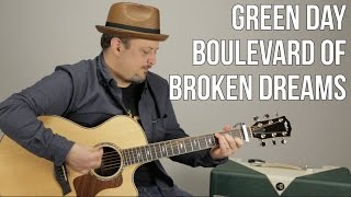 Green Day - Boulevard of Broken Dreams - Guitar Lesson - Easy Beginner Acoustic Song