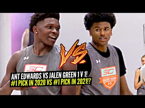 Jalen Green vs Anthony Edwards 1v1 King Of The Court!! Potential #1 Pick in 2020 vs #1 Pick in 2021?
