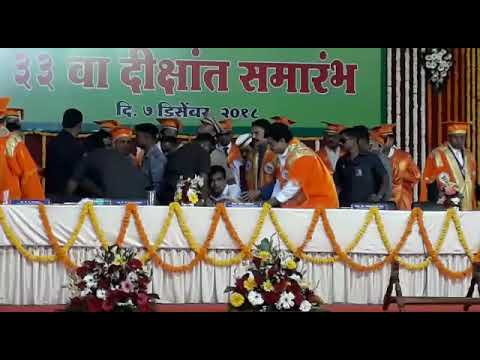 VIDEO: Nitin Gadkari Falls Unconscious During an Event in Ahmednagar