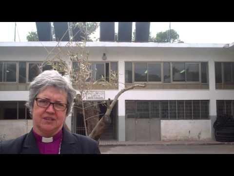 ELCIC Bishop Susan Johnson visits the Vocational Training Centre in East Jerusalem