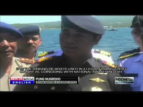Indonesia Sinks 41 Boats in Illegal Fishing Crackdown