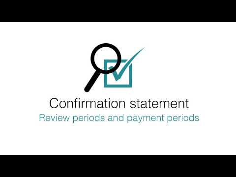Confirmation Statement: Review Periods And Payment Periods Explained