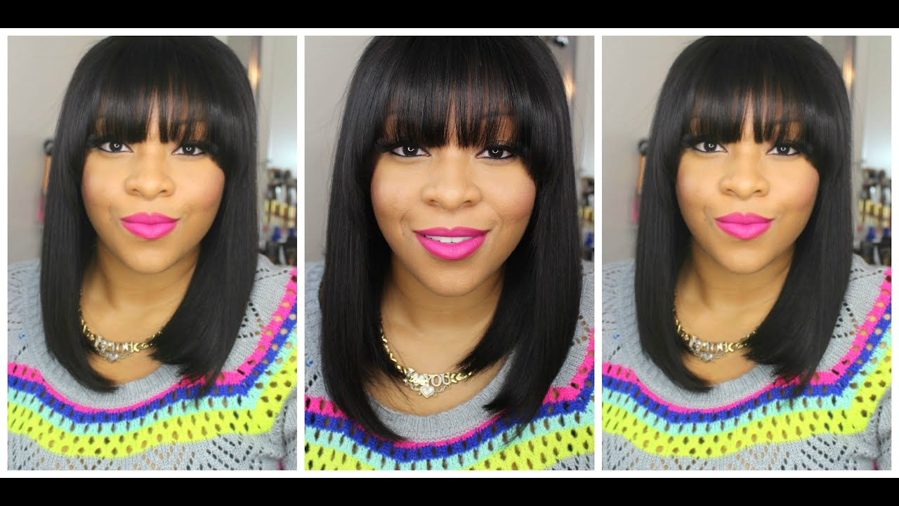 My New Short Bob Hair Cut With Full Fringe Bangs Quick Style