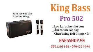 Loa kéo mini Kingbass Pro 502 -  Loa karaoke xách tay - Loa nhỏ mà hay