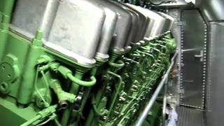 Voith Maxima 40 CC. engine room. start-stop. walkaround