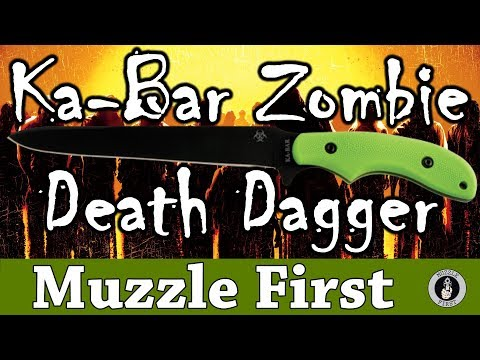 Ka-Bar Zombie Death Dagger - A Wicked Blade By Ka-Bar - Remake Of The Western L77 Blade Of WWII